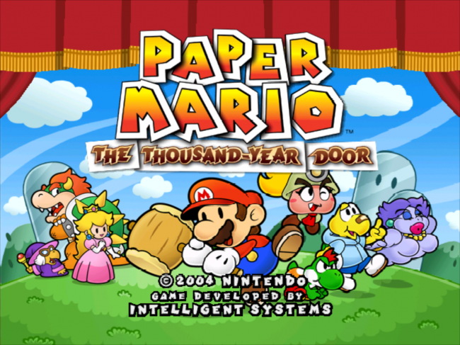 Paper Mario and the Thousand Year Door Intro Great for Kids
