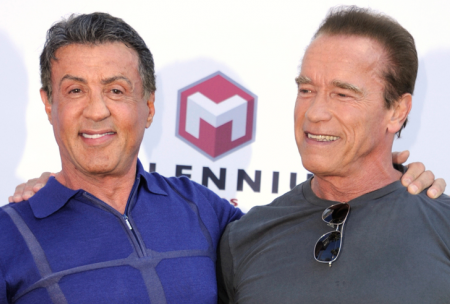 Sylvester Stallone Schwarzenegger at Cannes Ronda Rousey Says They Are Real Men