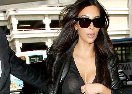 Kim Kardashian Nip Slip at LAX Preview of Coming Attraction at French Wedding?
