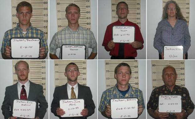 Six brothers and their parents were arrested
