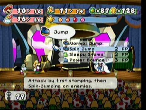 paper mario introduction to turn based RPG