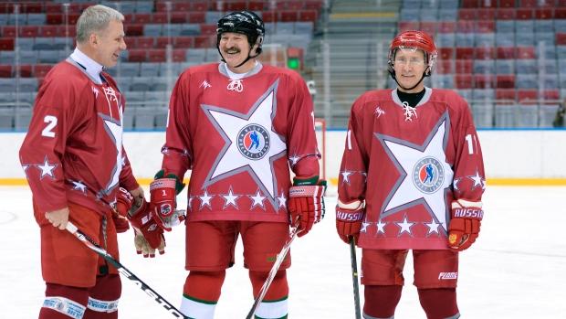 Vladimir Putin Plays Hockey, Scores Goals (Satire) [Video]