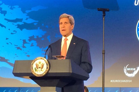 John Kerry Addresses Ocean Environmental Issues