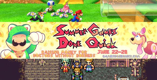 Summer Games Done Quick 2014 Bonus Games Still Going