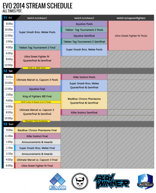 Evo 2014 Schedule