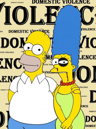 Disney and Marge Simpson