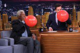 Jimmy Fallon and Morgan Freeman Inhale on Tonight Show [Videos]
