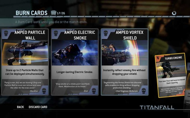 Titanfall Update 4 brings 14 new Titan burn cards