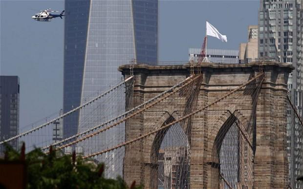 Secrets Surrounding White Flags on Brooklyn Bridge Have Deepened