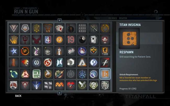Titanfall Titan Insignia in Update 4