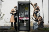 Banksy's Spy Booth Defaced