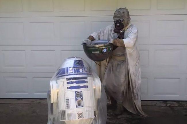 R2-D2 Takes Part in ALS Ice Bucket Challenge