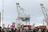 Gaza Strip: Protests to Stop Israeli Ship From Docking in U.S. and Canada