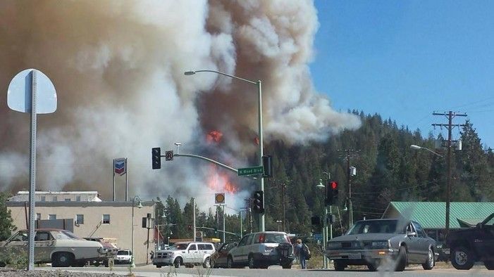 California Wildfire Burns Over 100 Homes in Weed