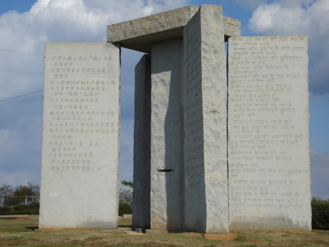 Georgia Guidestones New Addition, The Year '2014'