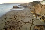 Spectacular Sand Art Washes Away With Each Tide