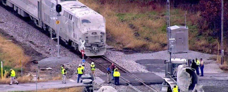 Amtrak Train Hits Truck in Indiana