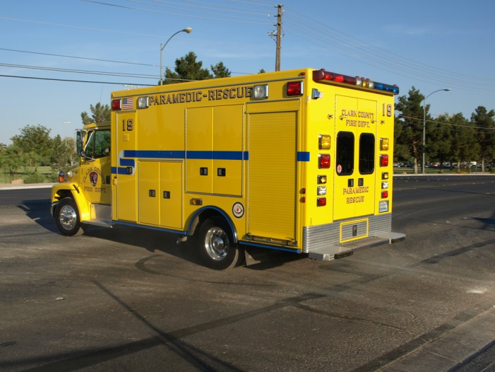Clark County Fire Department Vehicle Involved in Crash