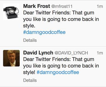 Twin Peaks Tweet