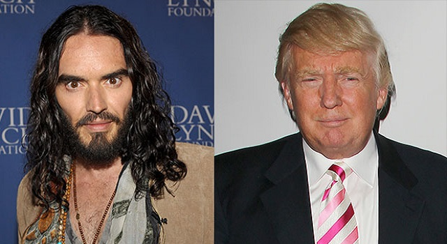 Donald Trump and Russell Brand Twitter Beef Goes Viral
