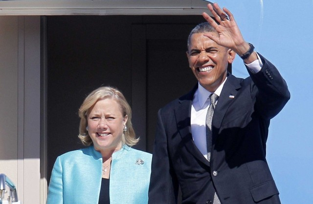 Louisiana Senator Mary Landrieu with President Obama