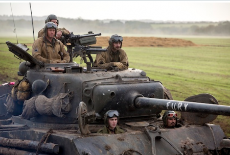 Fury: Brad Pitt and 'Platoon' in World War Two With Tanks