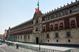 Mexico City Protesters Set National Palace Door on Fire