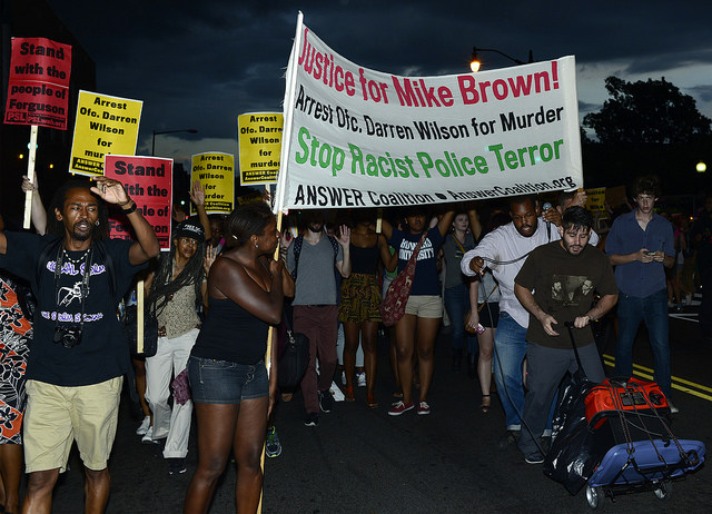 Ferguson Protests Increase With Federal Presence as Decision Nears