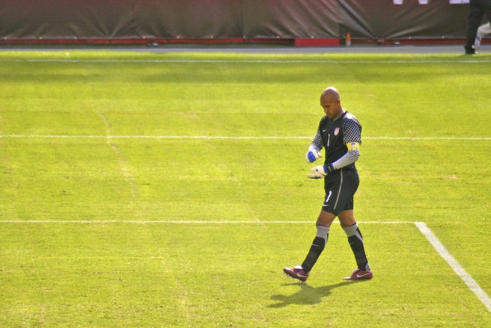 David Beckham Eyes Tim Howard