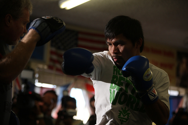 Pacquiao vs Mayweather in Works for Cinco de Mayo