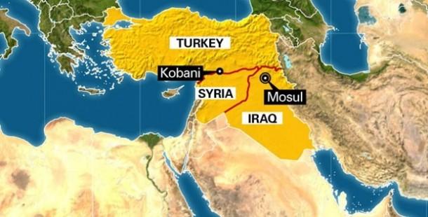 Airstrikes in Syrian Border Kobani