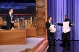 Jimmy Fallon Schmoozes With Guests Ben Stiller and Brie Larson