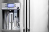 Keurig Coffee Brewer on GE Refrigerator Front