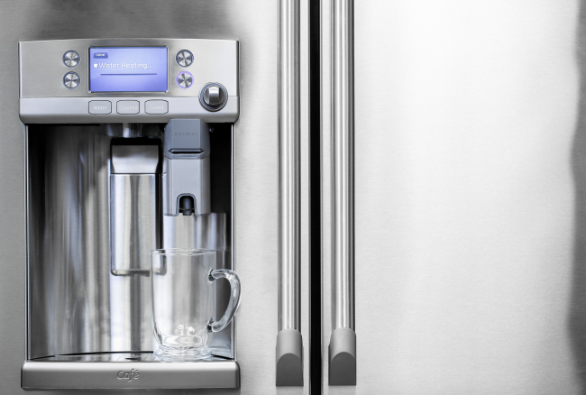 Keurig Coffee Maker Does Not Dispense Water : Keurig Coffee Brewer on GE Refrigerator Front ? Guardian Liberty Voice