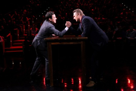 Jimmy Fallon Arm Wrestles Liam Neeson on Tonight Show [Video]