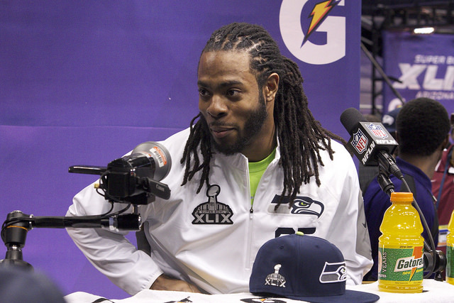 Richard Sherman Calls Out Roger Goodell for Patriots Conflict of Interest