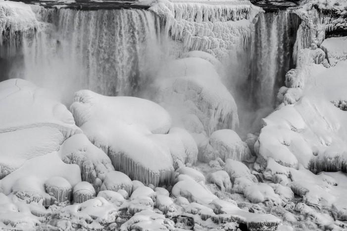 Niagara Falls Engulfed by Deep Freeze