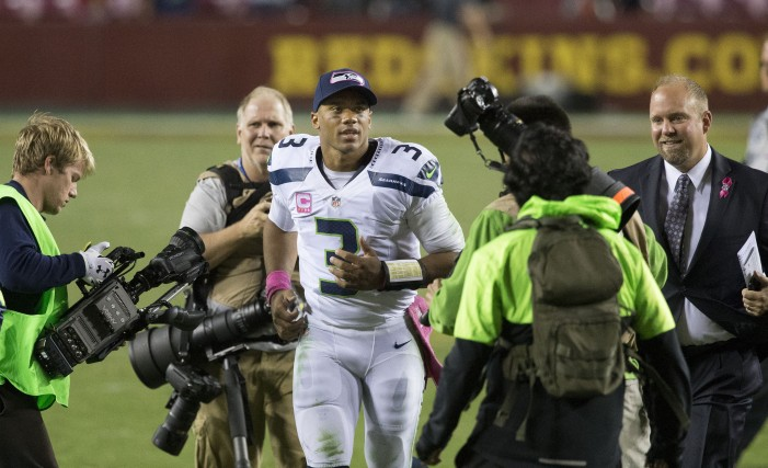 Russell Wilson Protects and Serves a United States Soldier