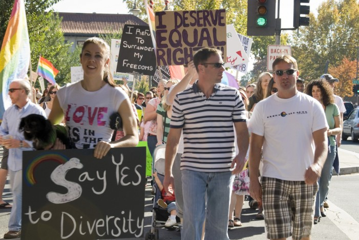 Right to Marry Crowd Not So Tolerant of Right to Carry at Gay Pride Rally