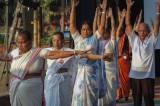 National Yoga Day in Mumbai Overshadows Solstice