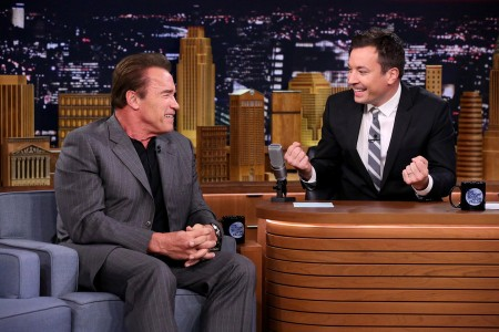 Arnold Schwarzenegger and Mike Birbiglia Were Guests on 'Tonight Show'