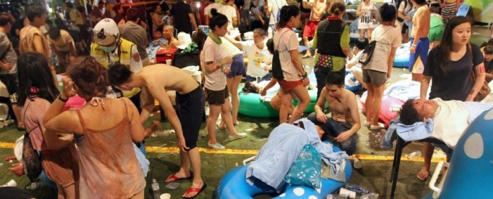 Taiwan Colored Powder Explosion Burns Hundreds at Water Park