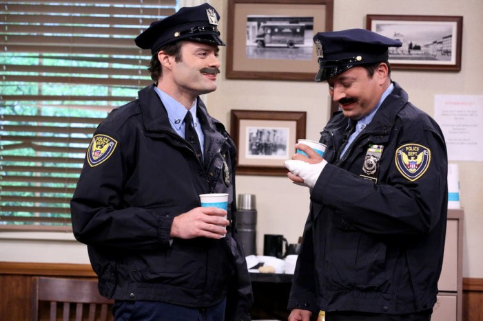 Jimmy Fallon and Bill Hader Play Spitting Cops in 'Tonight Show' Skit