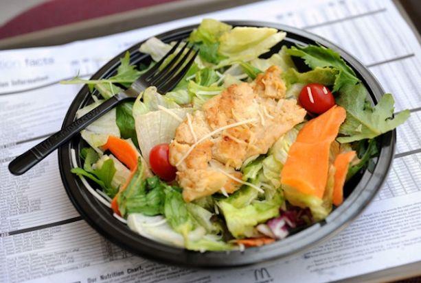 Fast Food Salads Often Unhealthy
