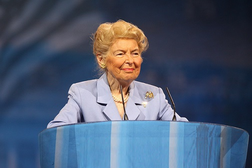Phyllis Schlafly Targeted for Backing Trump as 'a Choice Not an Echo'
