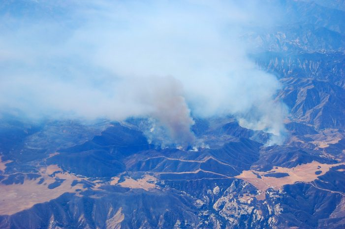 California Wildfire Still Roaring North of Fort Hunter