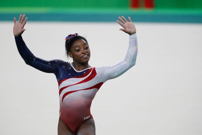 Simone Biles Won First Olympic Title in Gymnastics Individual All-Around