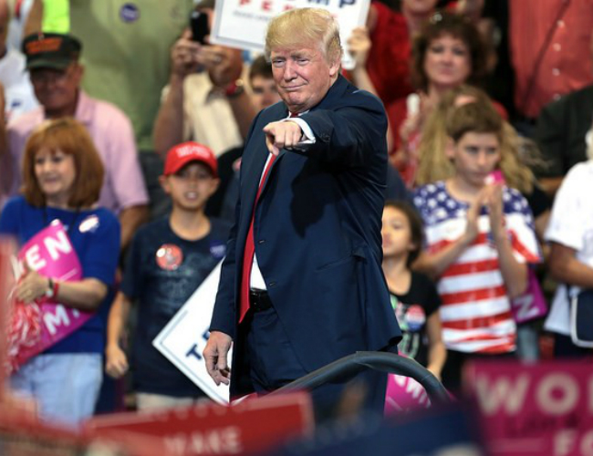 Donald Trump Commends Himself in 100-Day Rally Speech