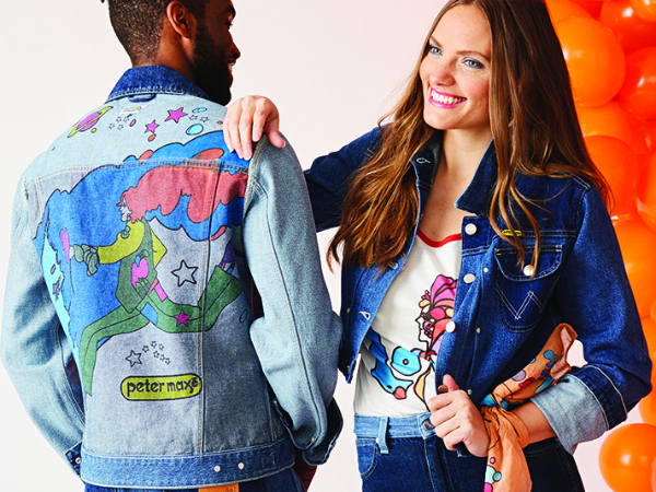 Peter Max Celebrates 70 Years of Wrangler Jeans