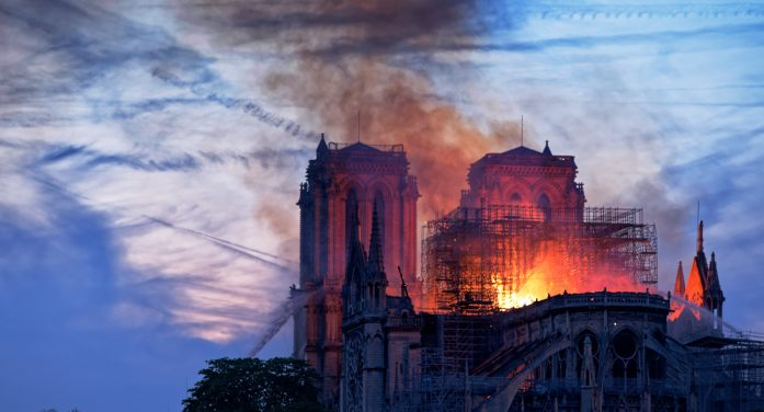 Notre Dame Burns as Residents Watch in Horror